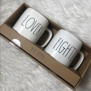 """Other - New Rae Dunn """"Lover and Fighter"""" mugs."""